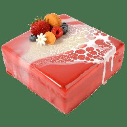 覆盆子白巧慕丝蛋糕