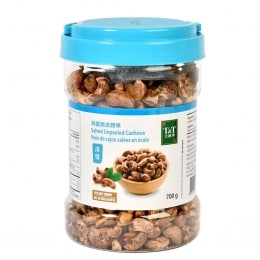 T&T Salted Unpeeled Cashews 700g