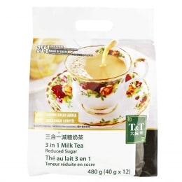 T&T 3In1 Milk Tea Reduced Sugar 40gX12packs