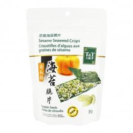 T&T Seaweed Crisps With Pumpkin Seeds 35g