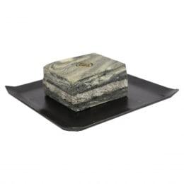 竹炭黑芝麻蛋糕砖