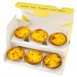Broiled Milky Cheese Tart Gift Set-6 Pcs