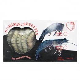 Heart Black Tiger Shrimp H/O 26/30