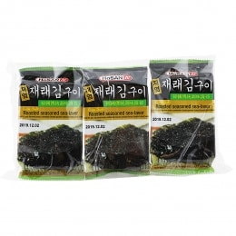 A+ LOW SALT ROASTED & SEASONED SEAWEED SNACK