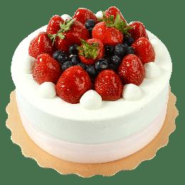 8寸草莓派对蛋糕