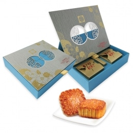 T&T Mooncake - White Lotus Seed W/3 Yolks (4S)