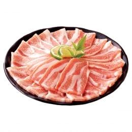 安康猪五花肉切片