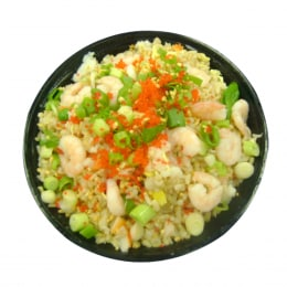 T&T Kitchen Fried Brown Rice With Seafood & Garlic (Hot)