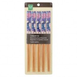 T&T Pattern Bamboo Chopsticks 5 Pairs