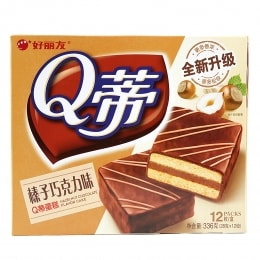 ORION Q PEDICLE HAZELNUT CHOCOLATE CAKE