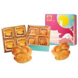 T&T Bakery Rabbit Shape Custard Mooncake 300g (8 Pcs)