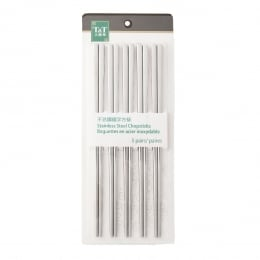 T&T Stainless Steel Chopsticks 5 Pairs