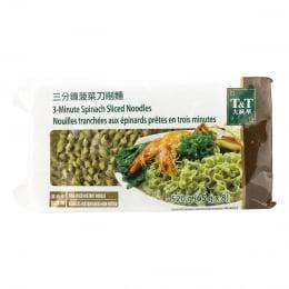 T&T 3Min Spinach Sliced Noodles 520g