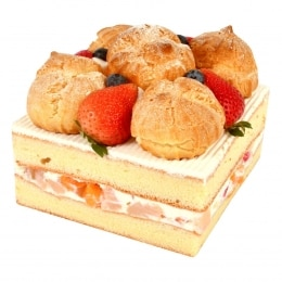 Custard Puff Mix Fruit Cake