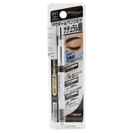Sana New Born 3In1 Eyebrow Pencil B6 Natural Brown
