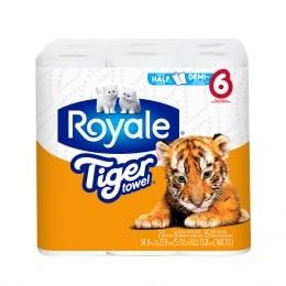 Royale Tiger Towels 6 Rolls