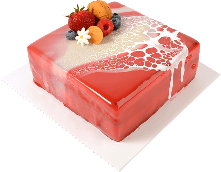 Raspberry White Chocolate Mousse Cake